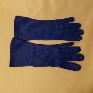 Vintage Ladies' Retro Mod Royal Blue Gloves